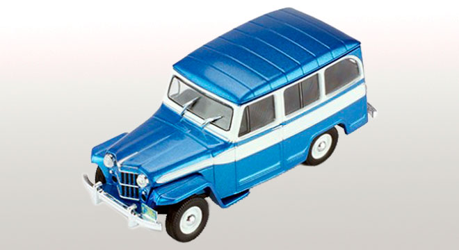 Jeep Willys 1960 Bleu / Blanc