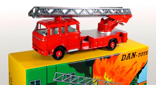 Exclusivité Dan-Toys Berliet GAK Pompiers Grande Echelle d/'Incendie
