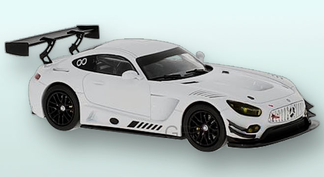 Mercedes AMG GT3 Version Course Blanc