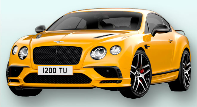 Bentley Continental Supersports 2017 Jaune Monaco